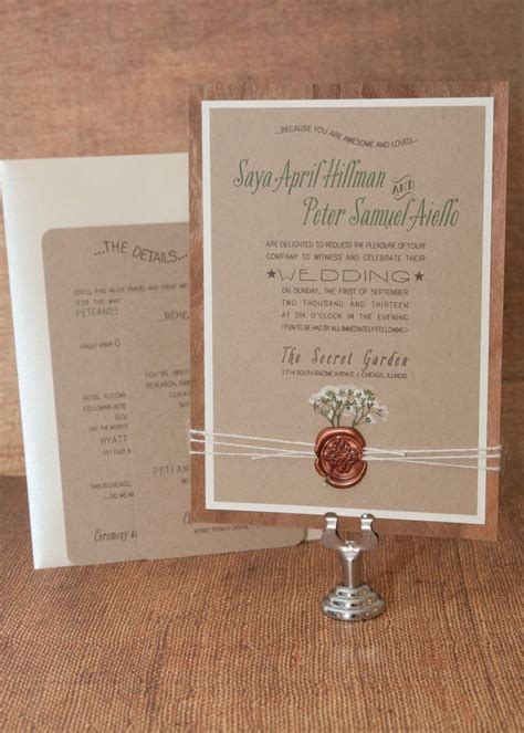 Casual Wedding Invitation Paper by Top 25 Best Casual Wedding Invitations Ideas On
