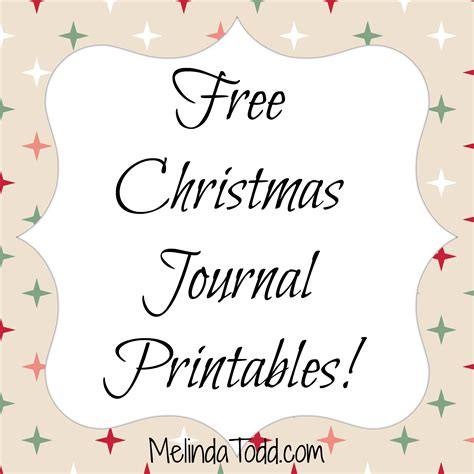 printable christmas journal the best christmas gift for mom