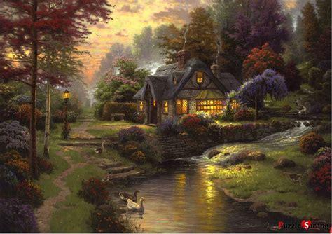 kinkade cottage jigsaw puzzles 1000 pieces quot stillwater cottage quot