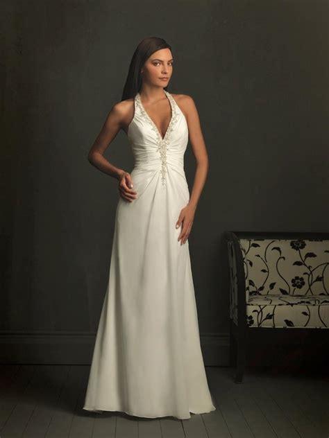 Ivory wedding dresses,Halter Top wedding dress,Chiffon