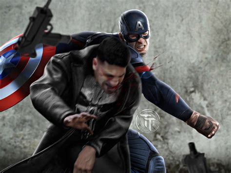 a for all time vs american captain america vs the punisher by timetravel6000v2 on