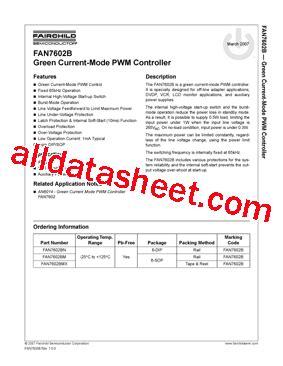 fan7602b datasheet pdf fairchild semiconductor