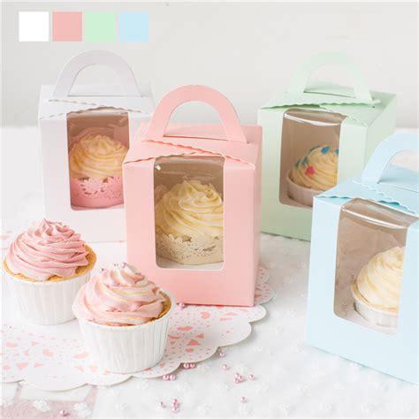 Box Kue Sovenir Cake Box Cake Cupcake Muffin Pudding cupcake box handheld single cake container muffin cup cake boxes food gift packaging 14 14 6 5