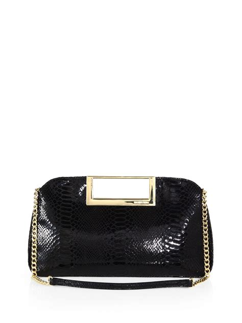 Michael By Michael Kors Ranger Patent Bag by Michael Michael Kors Berkley Patent Python Embossed