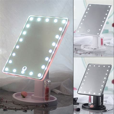 22 led 360 176 touch screen makeup mirror tabletop cosmetic