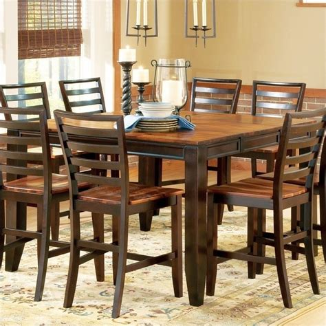 Steve Silver Company Lakewood Square Rectangular Counter Height Abaco Square Rectangular Counter Height Dining Table In Acacia Ab500pt