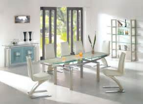 Modern Dining Room Tables Chairs Modern Glass Dining Table And Chairs Decoist