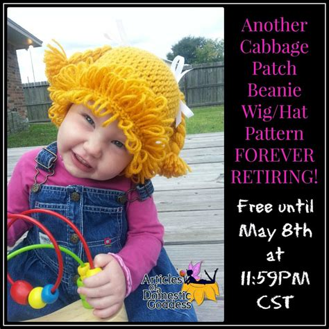 cabbage patch wig pattern free another cabbage patch beanie wig hat pattern is retiring