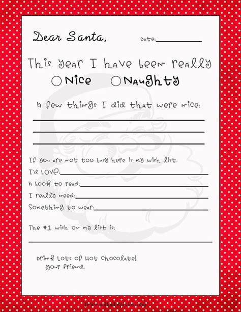 printable postcard to santa free printable letter to santa 2nd grade team pinterest