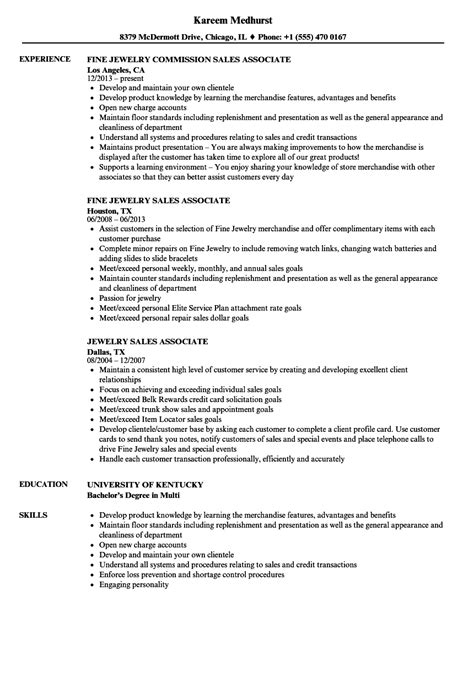 resume sles for sales jewelry sales associate resume resume ideas