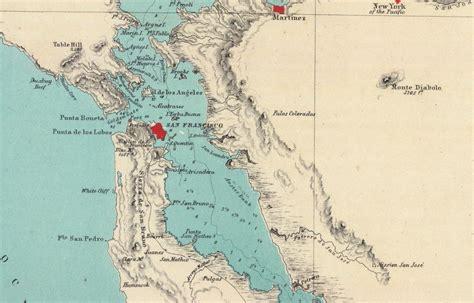 california map showing san jose alameda california 1854 map alamedainfo