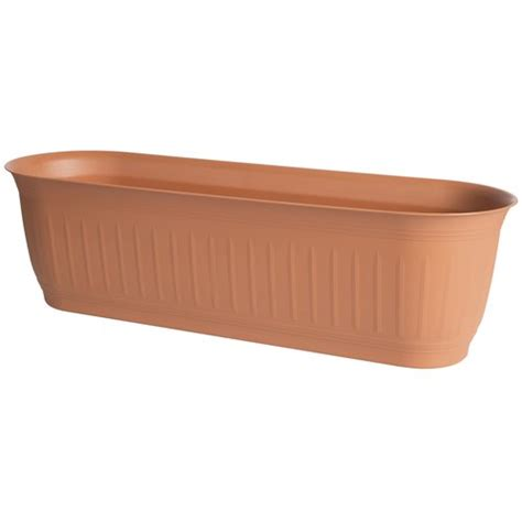 walmart planter box 24 quot colonnade window box planter clay walmart