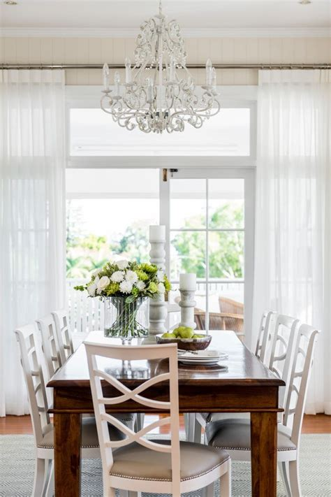 drapes for dining room sheer curtain ideas dining room traditional with white