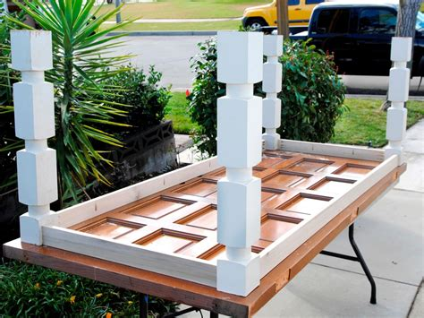 Putting Old Doors To Good Use How To Build A Dining Table From An Old Door And Posts Hgtv