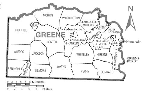 township greene county pa file map of greene county pennsylvania png wikimedia