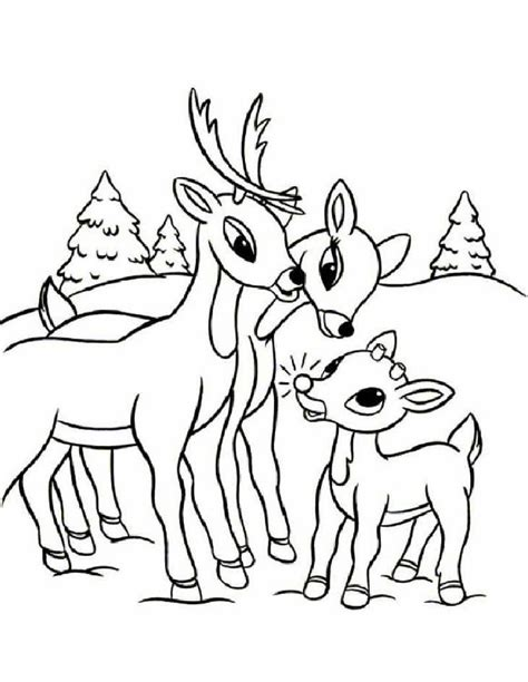 Rudolph Coloring Pages Rudolph Color Page
