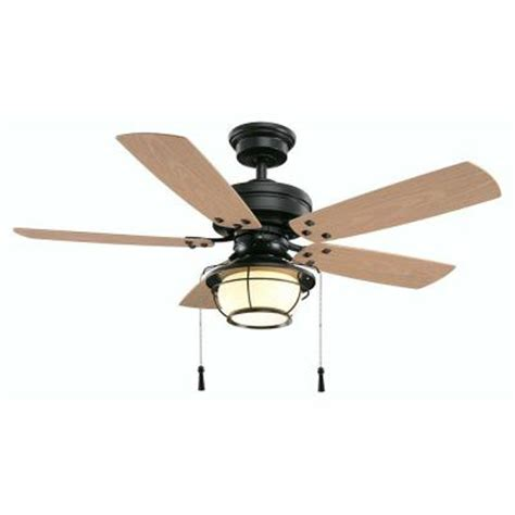 Hton Bay Outdoor Ceiling Fans With Lights Hton Bay Shoreline 46 In Iron Indoor Outdoor Ceiling Fan With Light Kit 51546
