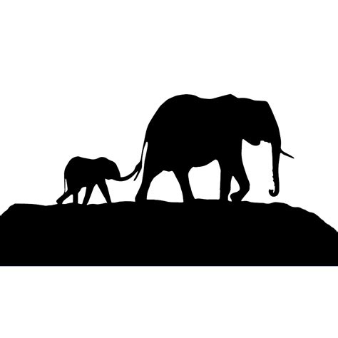 Family Sticker Mothers by Elephant Family Baby Silhouette Vinyl