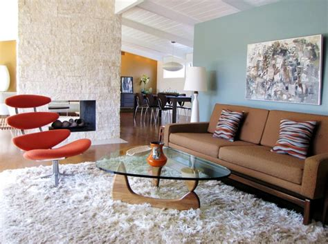 shaggy rugs for room retro accents with lots of personality
