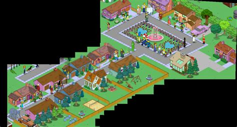 layout of the hill house king of the hill 2 sided streetthe simpsons tapped out addictsall things