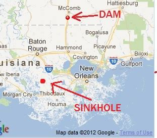 sinkholes in texas map thursday isaac updates the louisiana sinkhole bugle