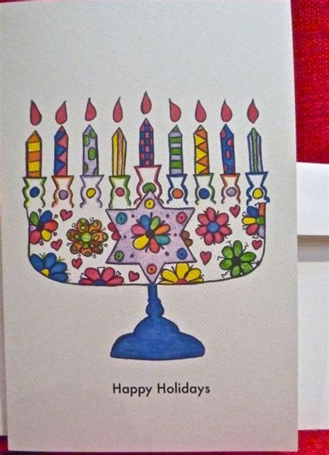 Simple Handmade Greeting Cards - simple handmade hanukkah greeting cards family