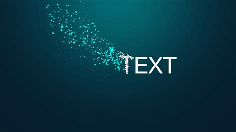 Free Particles Motion Template After Effects Youtube After Effects Text Animation Templates