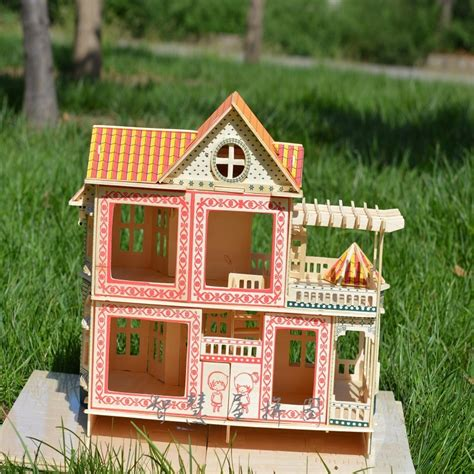 3d dollhouse 3d wooden puzzle dollhouse doll wood house hawaii villa