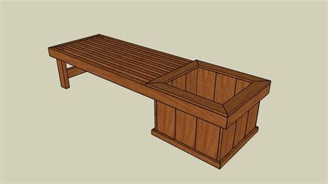 planter seat bench 1000 images about planter bench plans on pinterest