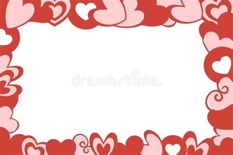 red and pink background royalty free stock images image valentine hearts frame white background stock illustration
