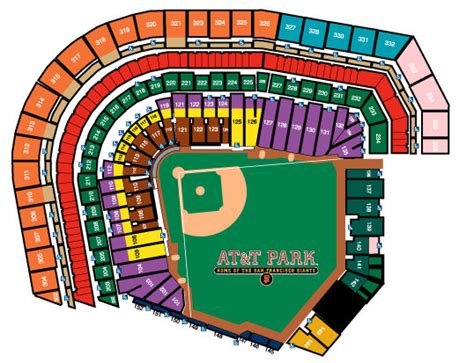 pac bell park seating ballpark seating chart san francisco giants the