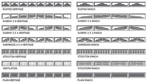 garage door windows steel