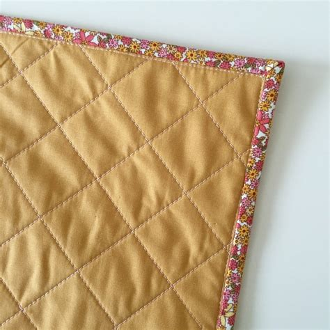 Pink Patchwork Throw - pink and mustard quilted throw pillow salty oat