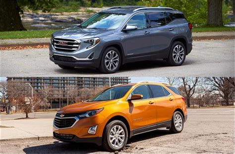 chevy terrain 2018 gmc terrain vs 2018 chevrolet equinox to