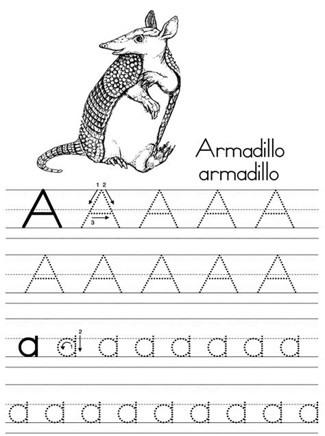tracing and for alphabet coloring pages