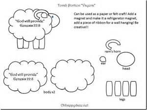 Sheep Crafts For Kids - god will provide ram craft oh happy daze
