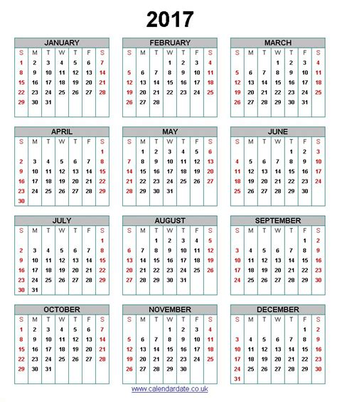 printable yearly calendar 2017 uk free printable calendar 2017 search results calendar 2015