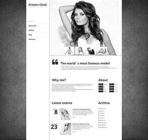 model portfolio moto cms html template 47210