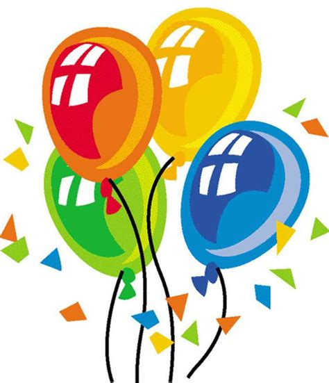 happy birthday balloon clipart clipart
