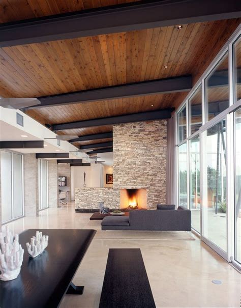 Ceiling Compound by Modern Compound In Hill Country Trahan Ranch Fireplaces Timber Ceiling And