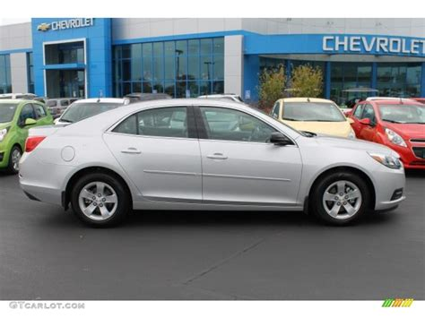 silver ls with white shades 2014 silver ice metallic chevrolet malibu ls 98724975