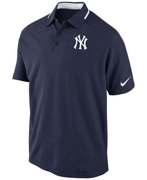 Polo Shirt Nike Yankees All Color nike s sleeve new york yankees dri fit polo in blue for lyst