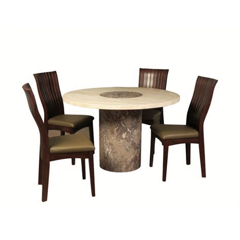 Brown Marble Dining Table Encore Marble Dining Table In Brown And 4