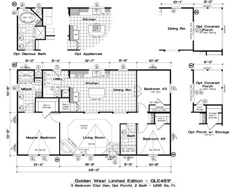 golden west limited edition floor plans 5starhomes