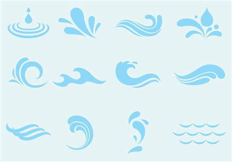 Ocean Blue Paint by Vector Agua Wave And Splash Icons Download Free Vector