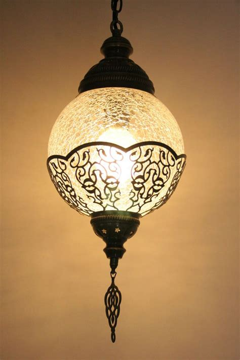 Turkish Pendant Light Medium Turkish Ottoman Moroccan Craquelure Glass Light L Pendant T 220 Rk Lambalari