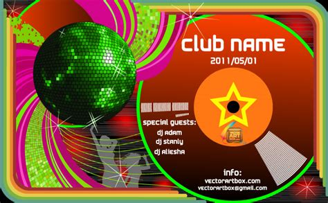 club templates free vectorartbox 187 archive 187 club poster template