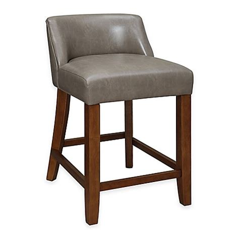 low bar stool chairs landon low back stool bed bath beyond