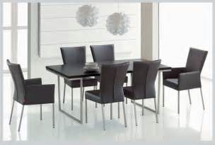 modern dining room furniture sets with black glass v shape