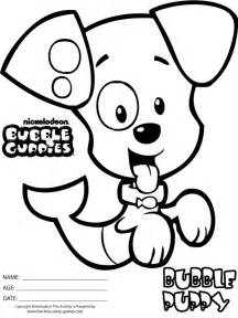 bubble guppies coloring pages bubble puppy